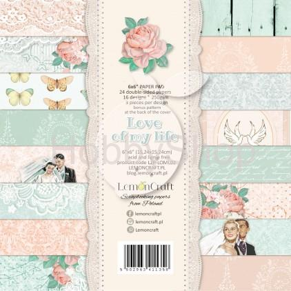Love of my life sada scrapbook papierov 6x6inch