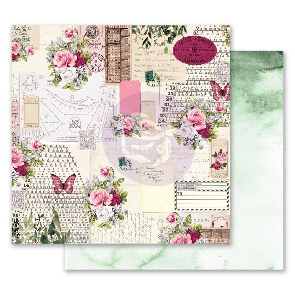 Prima Marketing Misty Rose Scented Love Letters 12x12inch