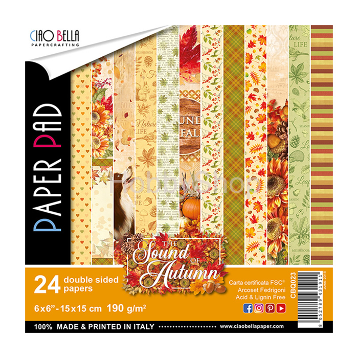 SOUND OF AUTUMN - sada 24ks scrapbook papierov 6x6inch