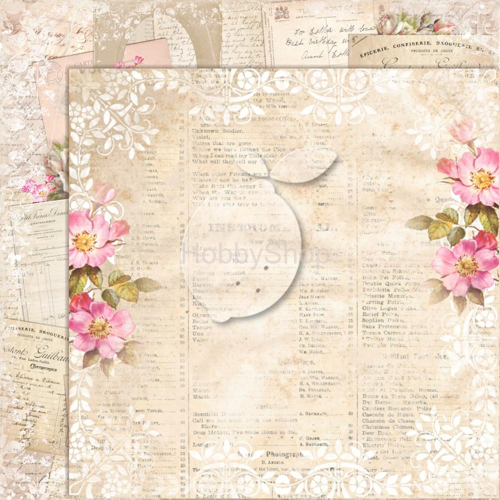 House of Roses EXTRA 07 - scrapbook papier_12x12 inch