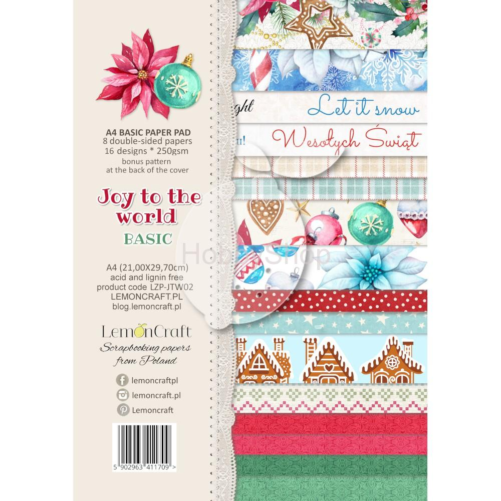 Joy to the World - sada scrapbook papierov_16+1ks_A4
