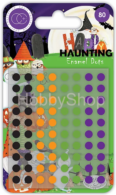 Craft Consortium Happy Haunting Enamel dots _80ks