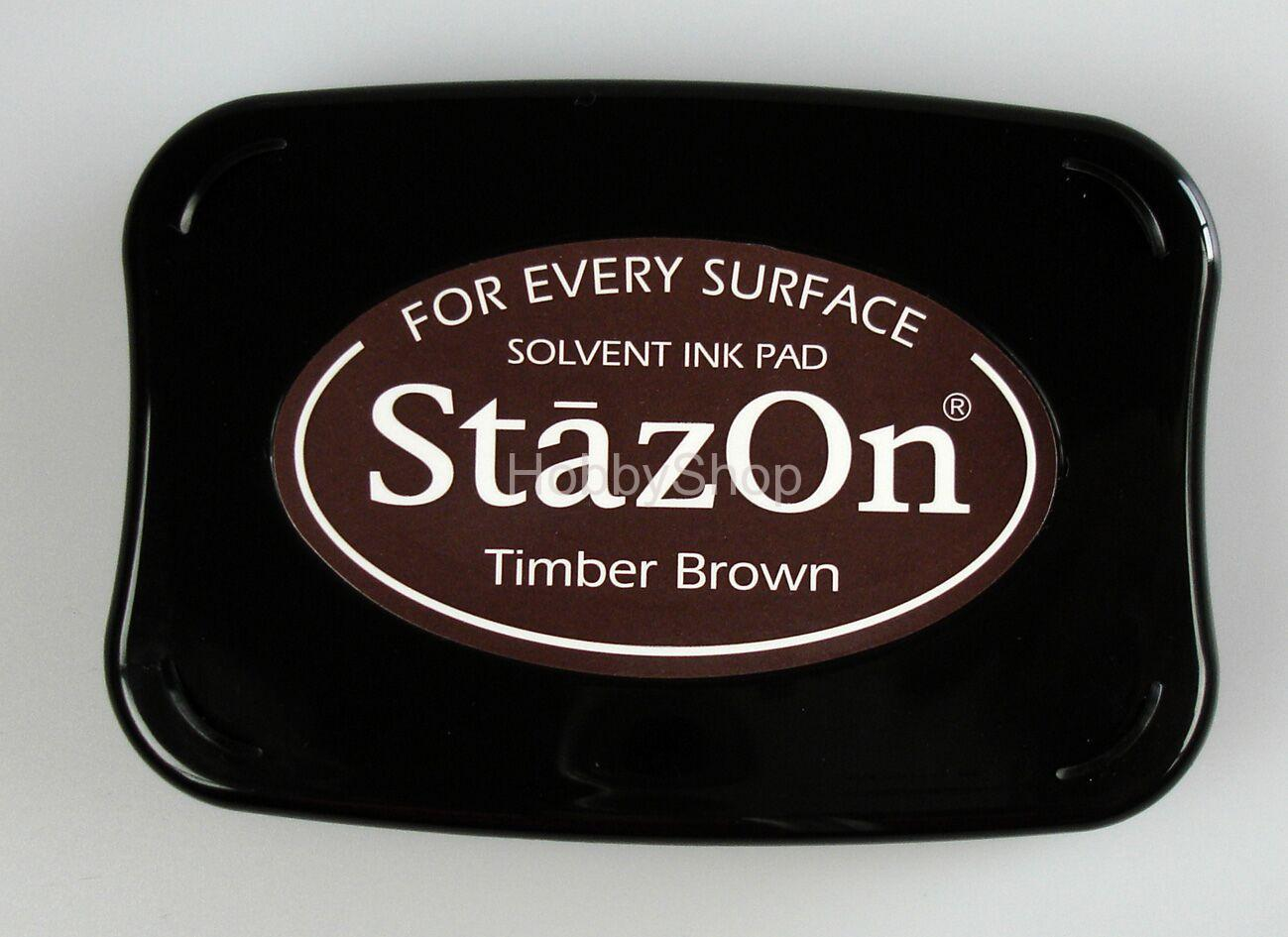 StazOn Solvent Ink pad_ Timber Brown