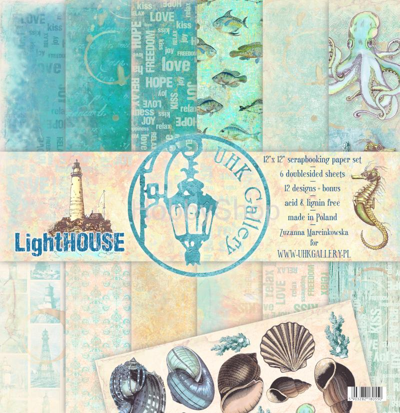LightHOUSE - sada  scrapbook papierov 12x12 inch
