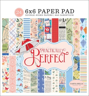 Practically Perfect- Carta Bella - sada scrapbook papierov  6x6 inch