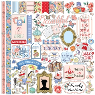 Practically Perfect- Carta Bella  - samolepky 12x12 inch