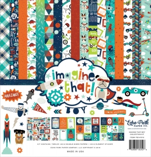 Imagine That Boy - Echo Park - sada scrapbook papierov  12x12inch