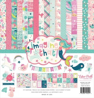 Imagine That Girl - Echo Park - sada scrapbook papierov  12x12inch
