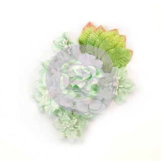 Prima Marketing Santa Baby Flowers Frosted Mint