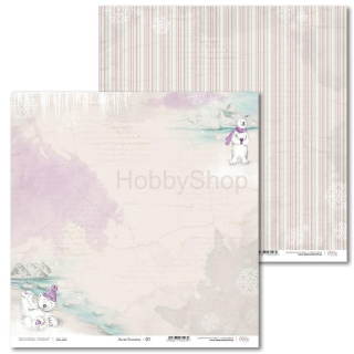 Arctic Sweeties -01 scrapbook papier 12x12 inch