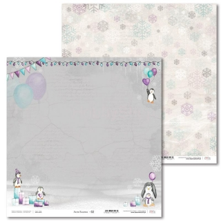 Arctic Sweeties -02 scrapbook papier 12x12 inch