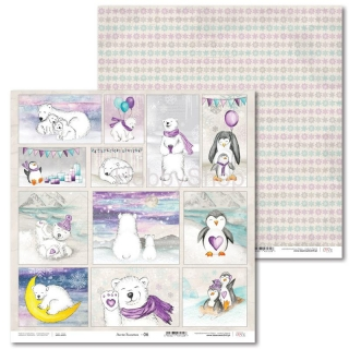 Arctic Sweeties -06 scrapbook papier 12x12 inch