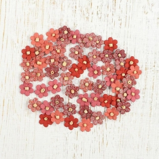 "Kvietky mini ""Beaded Micro Petals Coral mix""_60ks"
