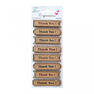 "3D papierové ozdoby ""Corrugated And Kraft Thank You Words"" 8pcs"