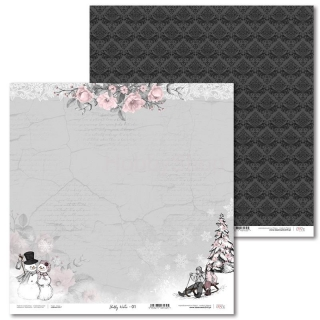 Shabby Winter -01 scrapbook papier 12x12 inch
