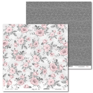 Shabby Winter -02 scrapbook papier 12x12 inch
