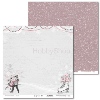 Shabby Winter -04 scrapbook papier 12x12 inch