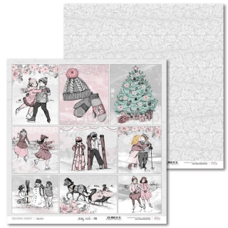 Shabby Winter -06 scrapbook papier 12x12 inch