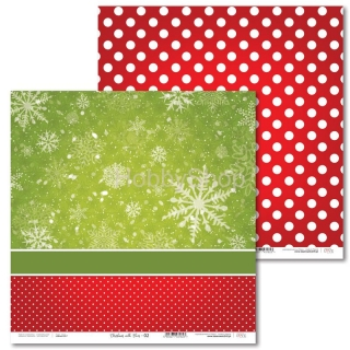 Christmas with Elves -02 scrapbook papier 12x12 inch