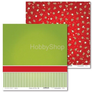 Christmas with Elves -05 scrapbook papier 12x12 inch