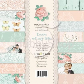 Love of my life-sada scrapbook papierov  8ks 12x12inch