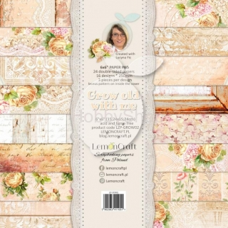 Grow old with me sada scrapbook papierov 6x6inch