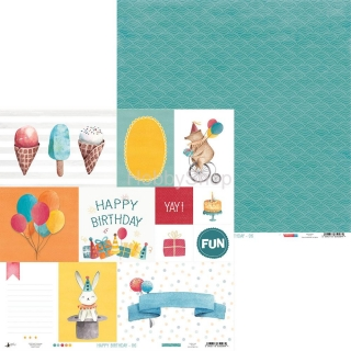 HAPPY BIRTHDAY 06 - scrapbook papier 12x12inch