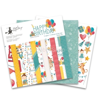 HAPPY BIRTHDAY  sada scrapbook papierov 12x12inch