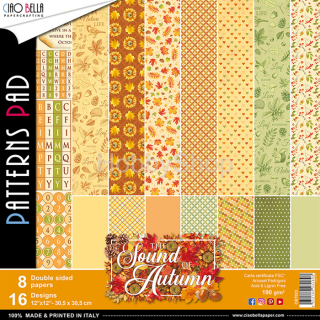 "SOUND OF AUTUMN ""basic""- sada 8ks scrapbook papierov 12x12 inch"