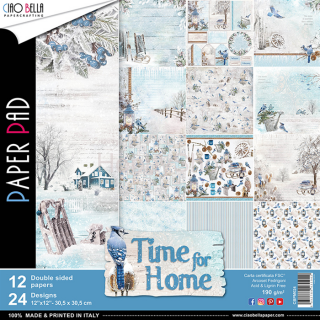 TIME FOR HOME- sada 12ks scrapbook papierov 12x12 inch
