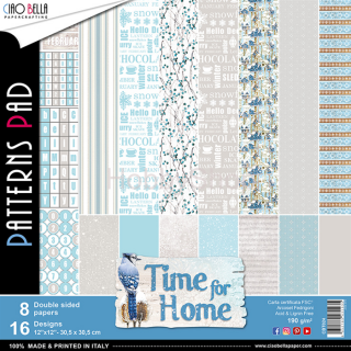 "TIME FOR HOME ""basic""- sada 8ks scrapbook papierov 12x12 inch"