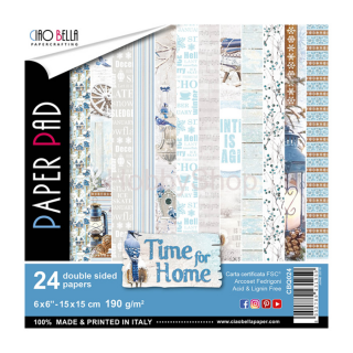 TIME FOR HOME - sada 24ks scrapbook papierov 6x6inch