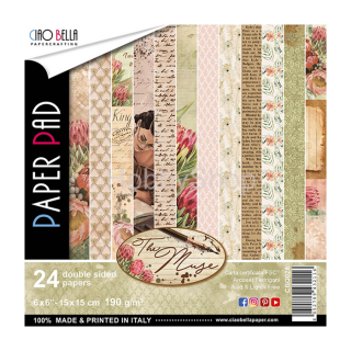 THE MUSE- sada 24ks scrapbook papierov 6x6inch
