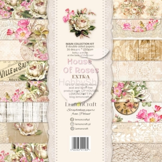 House of Roses EXTRA - sada scrapbook papierov_8+1ks_12x12inch