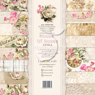 House of Roses EXTRA - sada scrapbook papierov_18ks_ 6x6 inch
