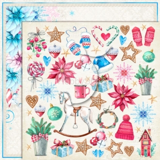 Joy to the World 05 - scrapbook papier_12x12 inch