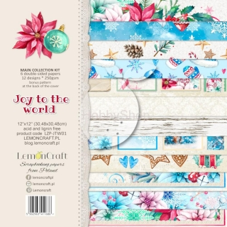 Joy to the World - sada scrapbook papierov_6+1ks_12x12inch