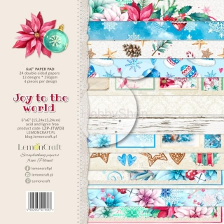 Joy to the World - sada scrapbook papierov_12ks_6x6inch