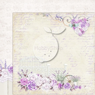 My sweet Provence 02 - scrapbook papier_12x12 inch