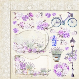 My sweet Provence 03 - scrapbook papier_12x12 inch