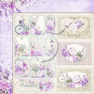 My sweet Provence 05 - scrapbook papier_12x12 inch