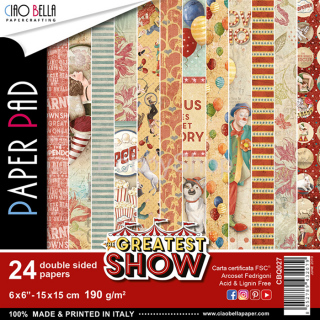 THE GREATEST SHOW - sada 24ks scrapbook papierov 6x6inch