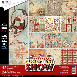 THE GREATEST SHOW - sada 12ks scrapbook papierov 12x12 inch