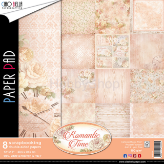ROMANTIC TIME - sada 8ks scrapbook papierov 12x12 inch