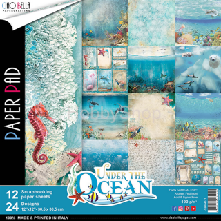 UNDER THE OCEAN- sada 12ks scrapbook papierov 12x12 inch