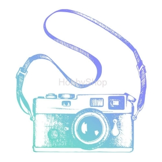Couture Creations Men's Collection Vinatge Camera Mini Clear Stamp