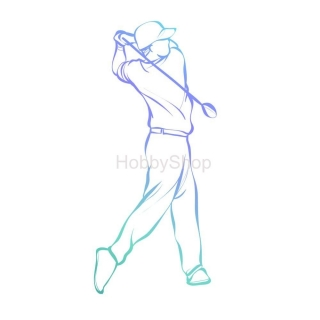 Couture Creations Men's Collection Golf Swing Mini Clear Stamp