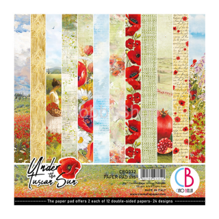 UNDER THE TUSCAN SUN - sada 24ks scrapbook papierov 6x6inch