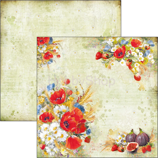 UNDER THE TUSCAN SUN - Wildflower - scrapbook papier 12x12inch