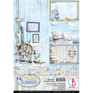 "Sound of Summer ""creative pad"" - sada 9ks scrapbook papierov A4"